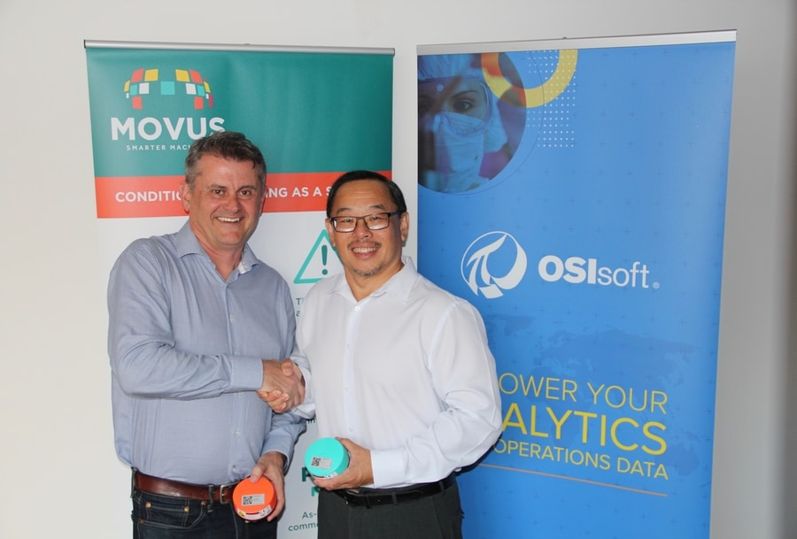 Brad Parsons, MOVUS CEO and Yong The, OSIsoft Regional Manager Oceania